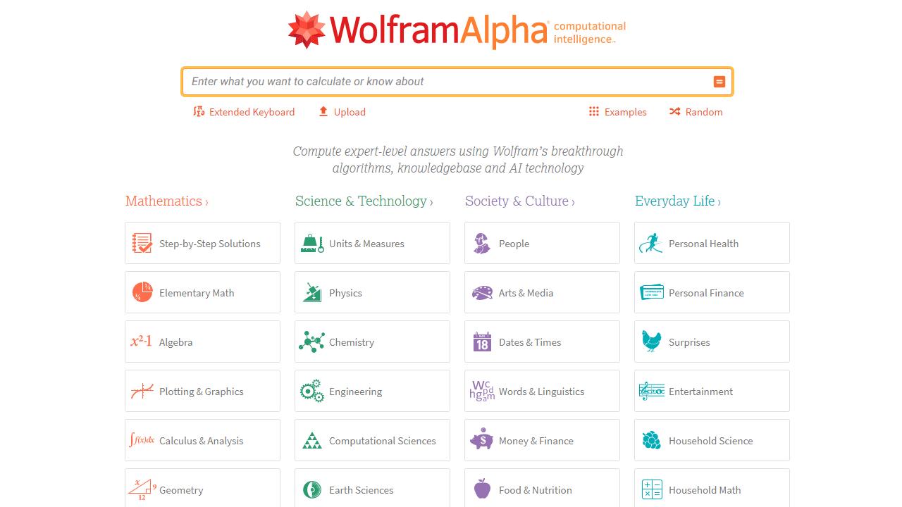 Wolfram Alpha antwortet mathematisch auf deine Fragen.