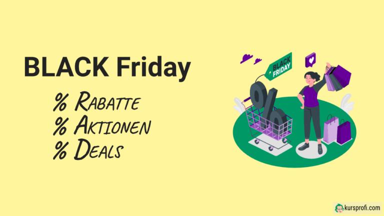 Black Friday und Cyber Monday Angebote 2020 für Kursersteller