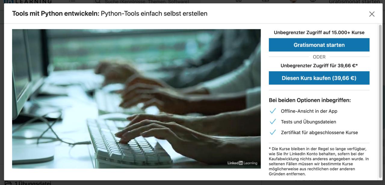 Kurs: Tools mit Python entwickeln