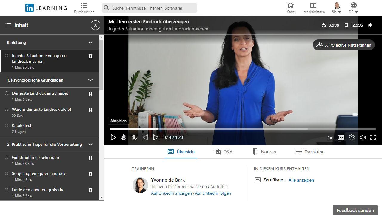 Online-Kurs: Mit dem ersten Eindruck überzeugen