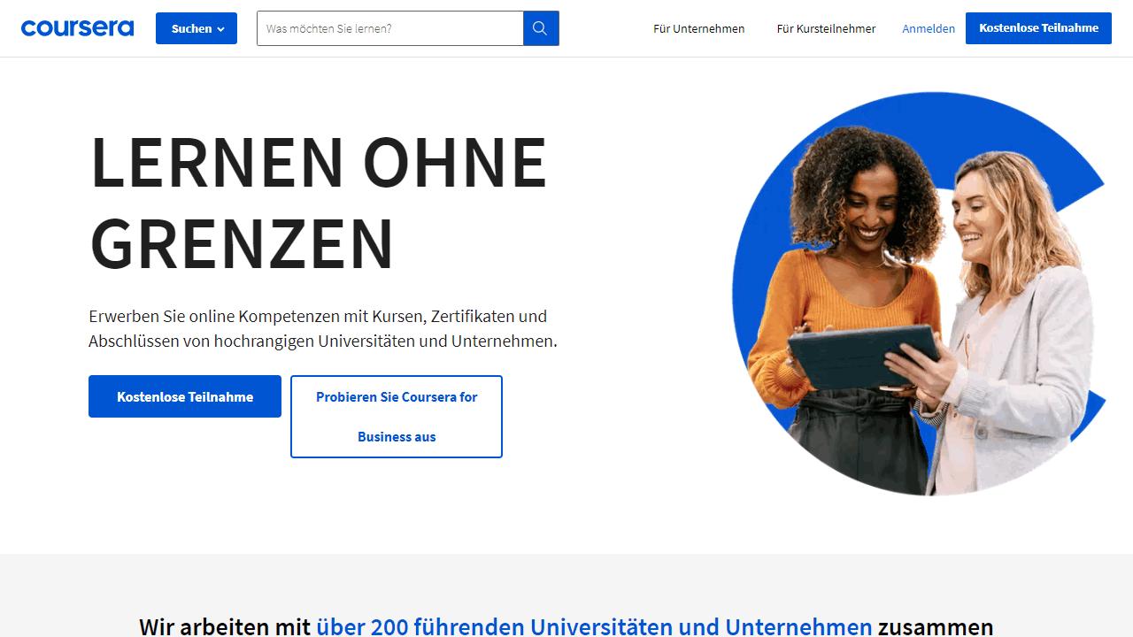 Coursare Homepage Deutsch