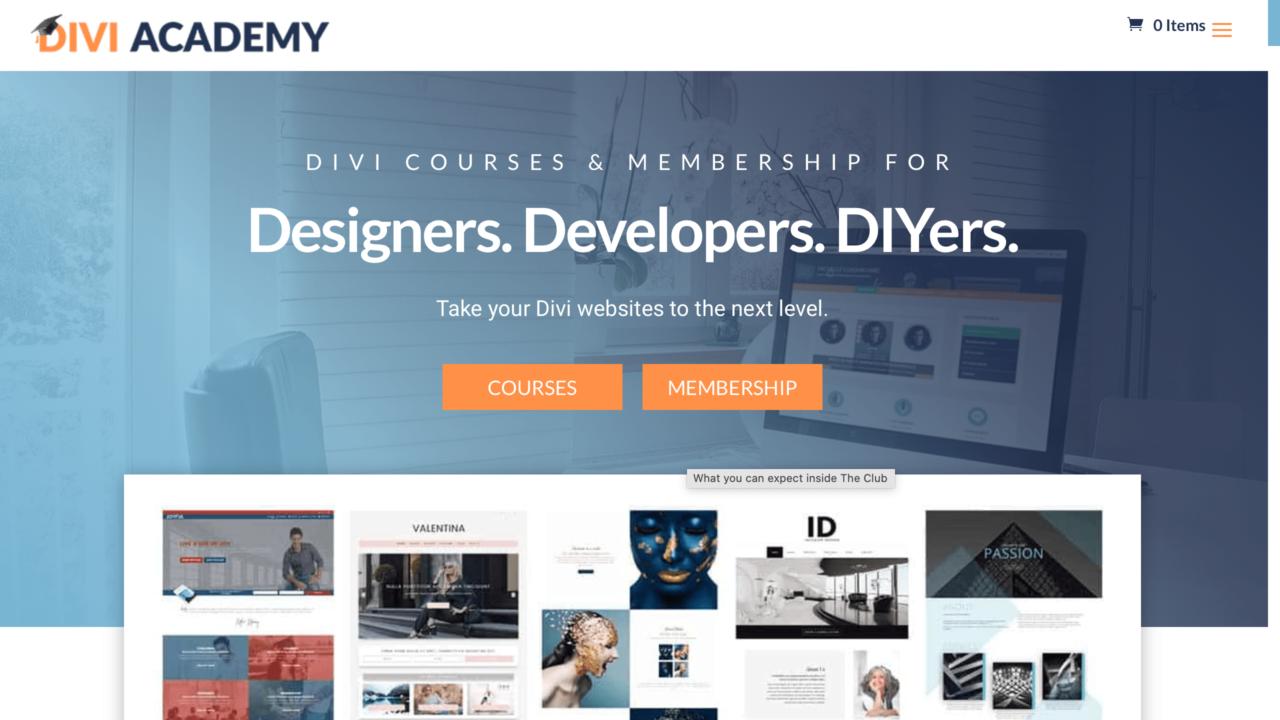 LifterLMS Beispiel: Divi Academy
